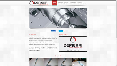 depierri.com.br um site desenvolvido por SENI web design & publicidade