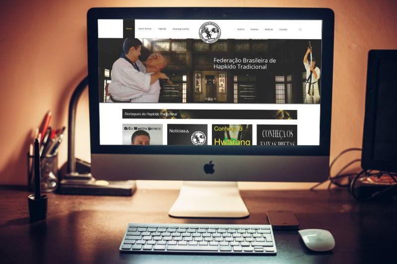 Desenvolvimento de site em São Paulo para Federação Brasileira de Hapkido Tradicional