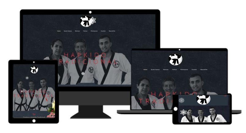 desenvolvimento de site Responsivo em Mogi Mirim para Equipe de Hapkido Tradicional Baixa Mogiana