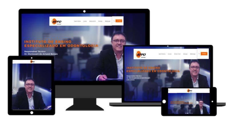Desenvolvimento de sites responsivos em Mogi Guaçu para Clinica e Instituição de Odontologia