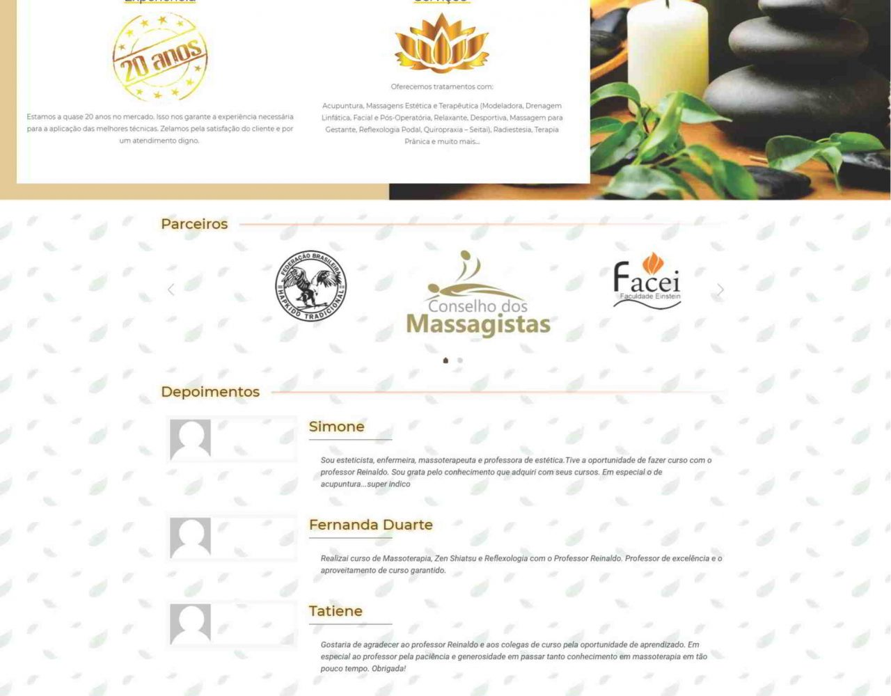 Desenvolvimento de site em São Paulo para a Clinica de Acupuntura e Massoterapia Clinterapia