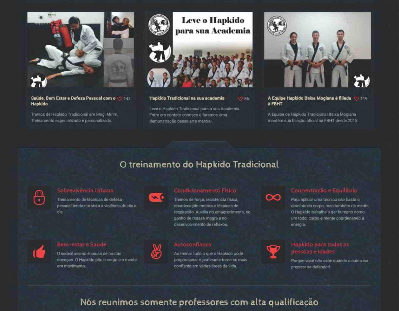 Desenvolvimento de site em Mogi Mirim para a Equipe de Hapkido Trdicional Baixa Mogiana
